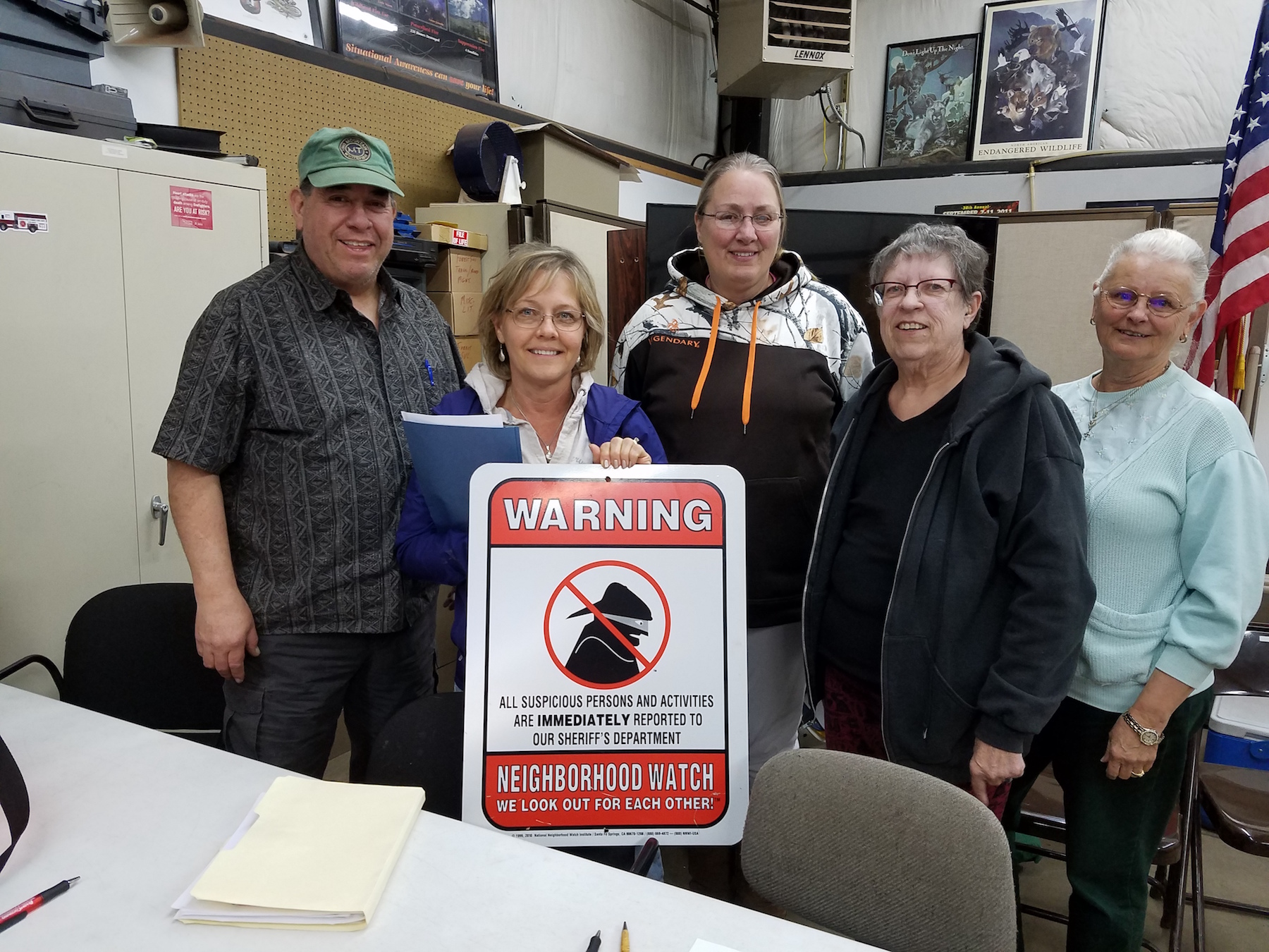 Neighborhood Watch Members at April 2017 Meeting
